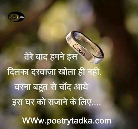 Tere Baad Humne Love Quote In Hindi