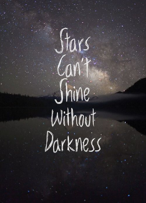 Great Inspirational Quote Stars Cant Shine Without Darkness