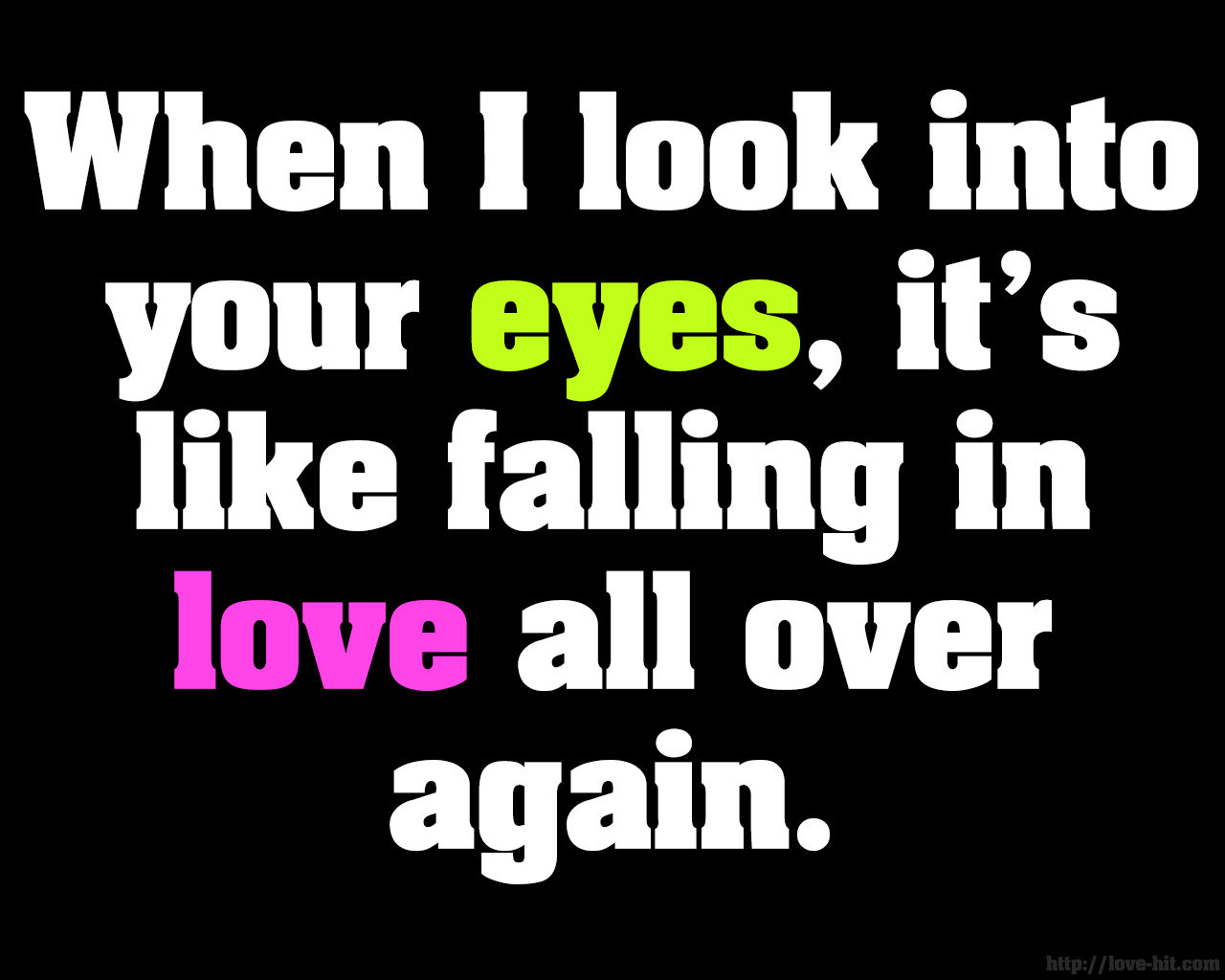 When I Look Into Your Eyes