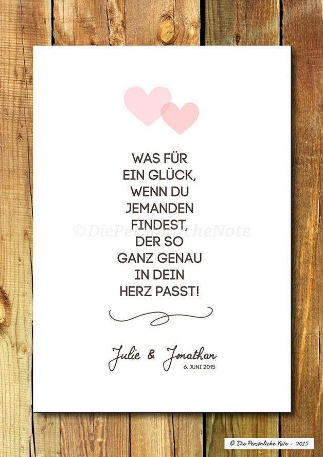 Druck Print Herzgenau Hochzeit Liebe Verlobung