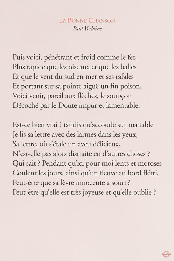 Citations Pixword Verlaine Paulverlaine Labonnechanson Love Amour Literature
