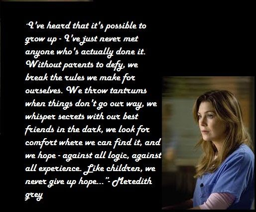 Greys Anatomy Quotes About Love Meredith Grey Quote Greys Anatomy