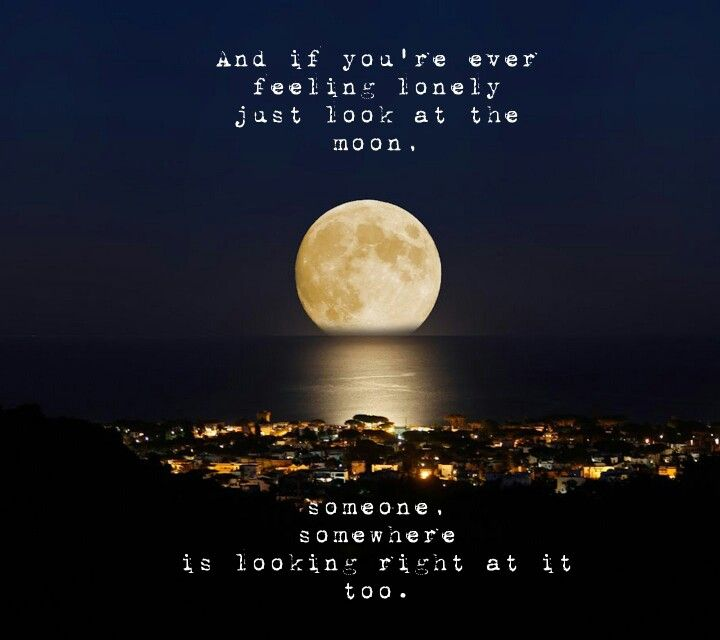 Moon Quote And If Youre Ever Feeling Lonely Just Look At The Moon