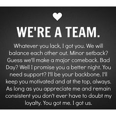 I Got This Were A Team Friends Marriage Quoteslove