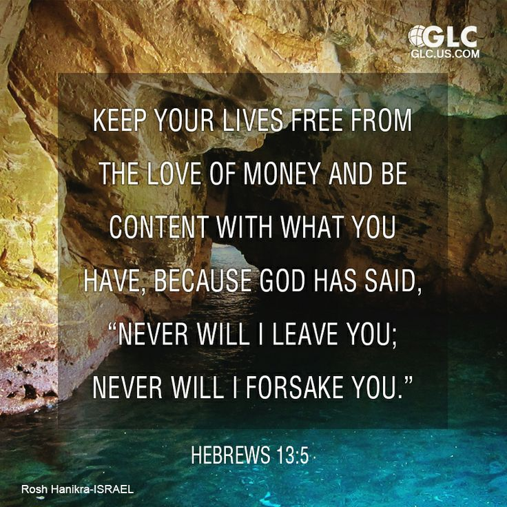 Hebrews  Keep Your Life Free From Love Of Money And Be Content