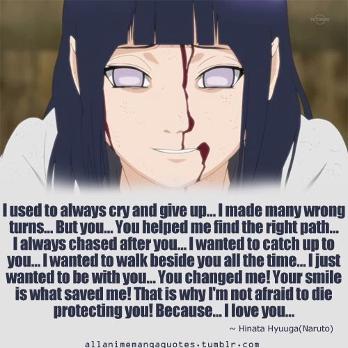 This Was The Cutest Thing Ever  Hinata Hyuga Quote