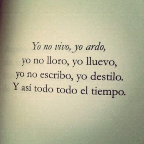 Love This Quote In Spanish I Dont Live I Burn I