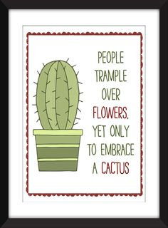 James Joyce Cactus Quote Unframed Literary Print