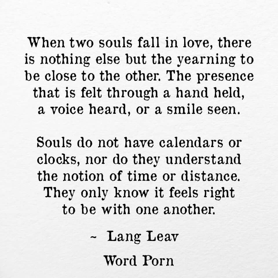 When Two Souls Fall In Love Lang Leav Via Word More