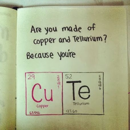 Geeky Love Quote Thank You Chemistry