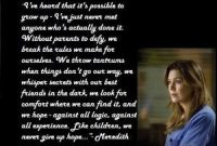 Greys Anatomy Quotes About Love Meredith Grey Quote Greys Anatomy By Stacy