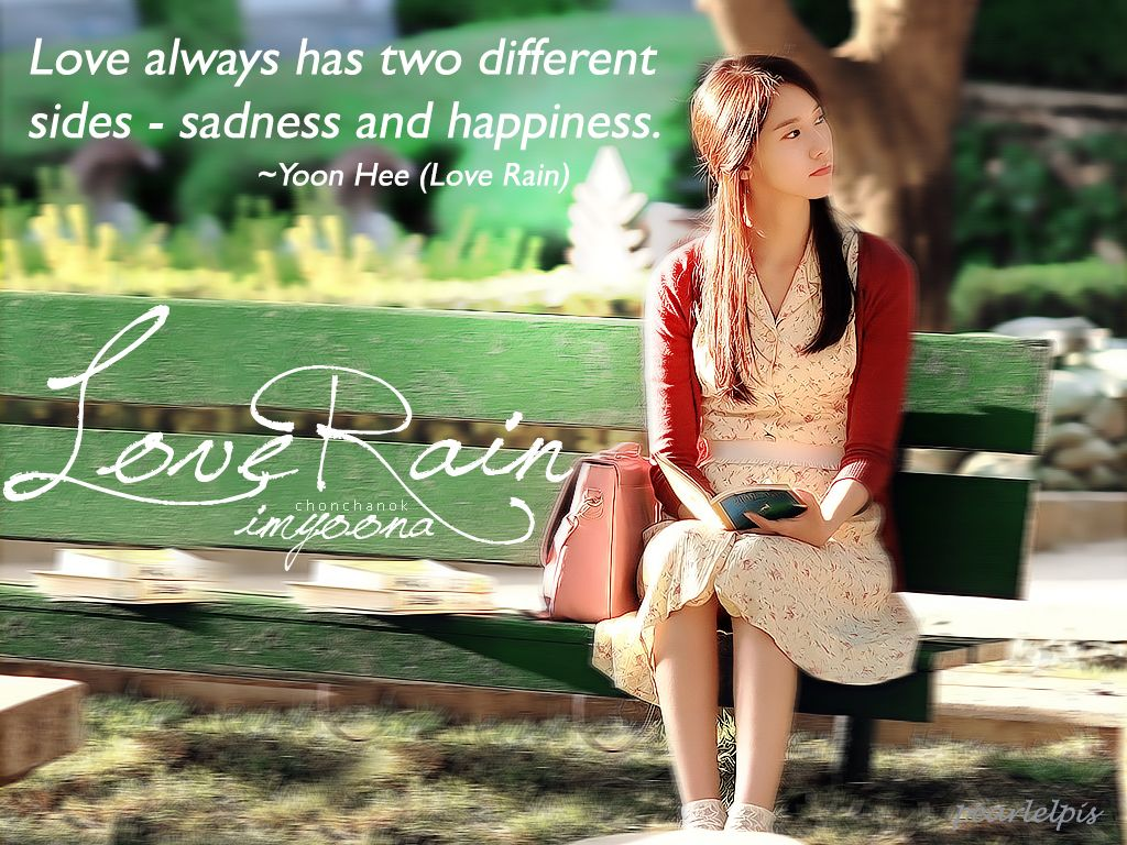 Korean Drama Quotes  C B My First Impression Of Snsd Is Yoona From Series Named Love Rain With