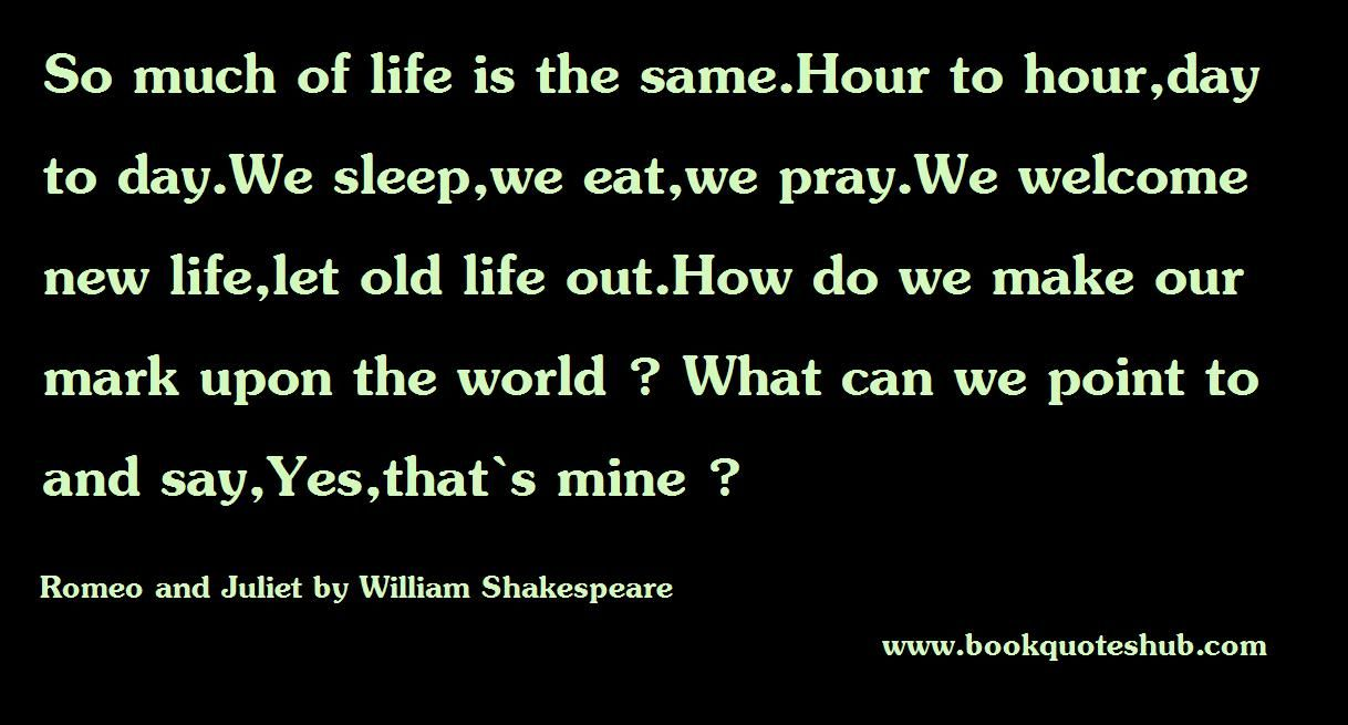 Quotes Romeo Said About Juliet Romeo And Juliet By William Shakespeare