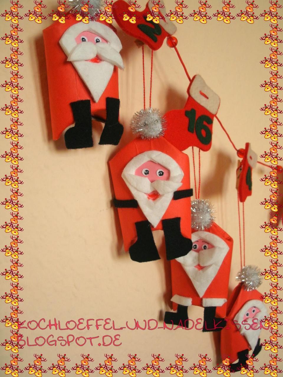 Kochloeffel Und Nadelkissen Kleine Weihnachtswichtel Fur Den Adventskalender