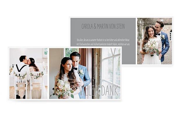 Dankeskarte Hochzeit Farbenpracht  C B Fotowand