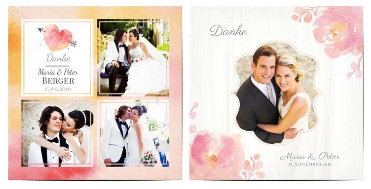 Dankeskarten Hochzeit