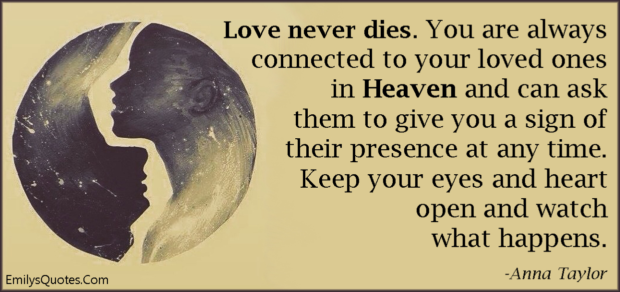 Com Love Death Life Connected Heaven Sign