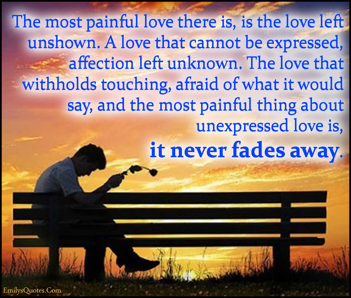 Com Painful Pain Love Unshown Expressed Withholds Touching