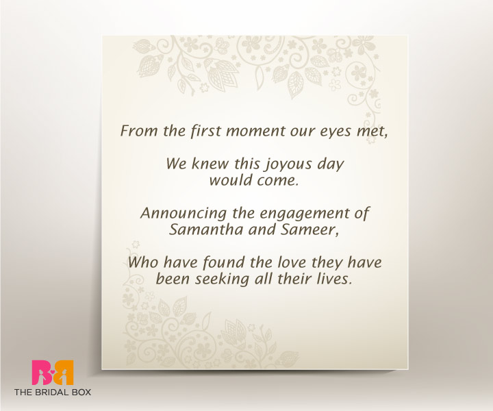 Theyve Found Love En Ement Invitation Quotes
