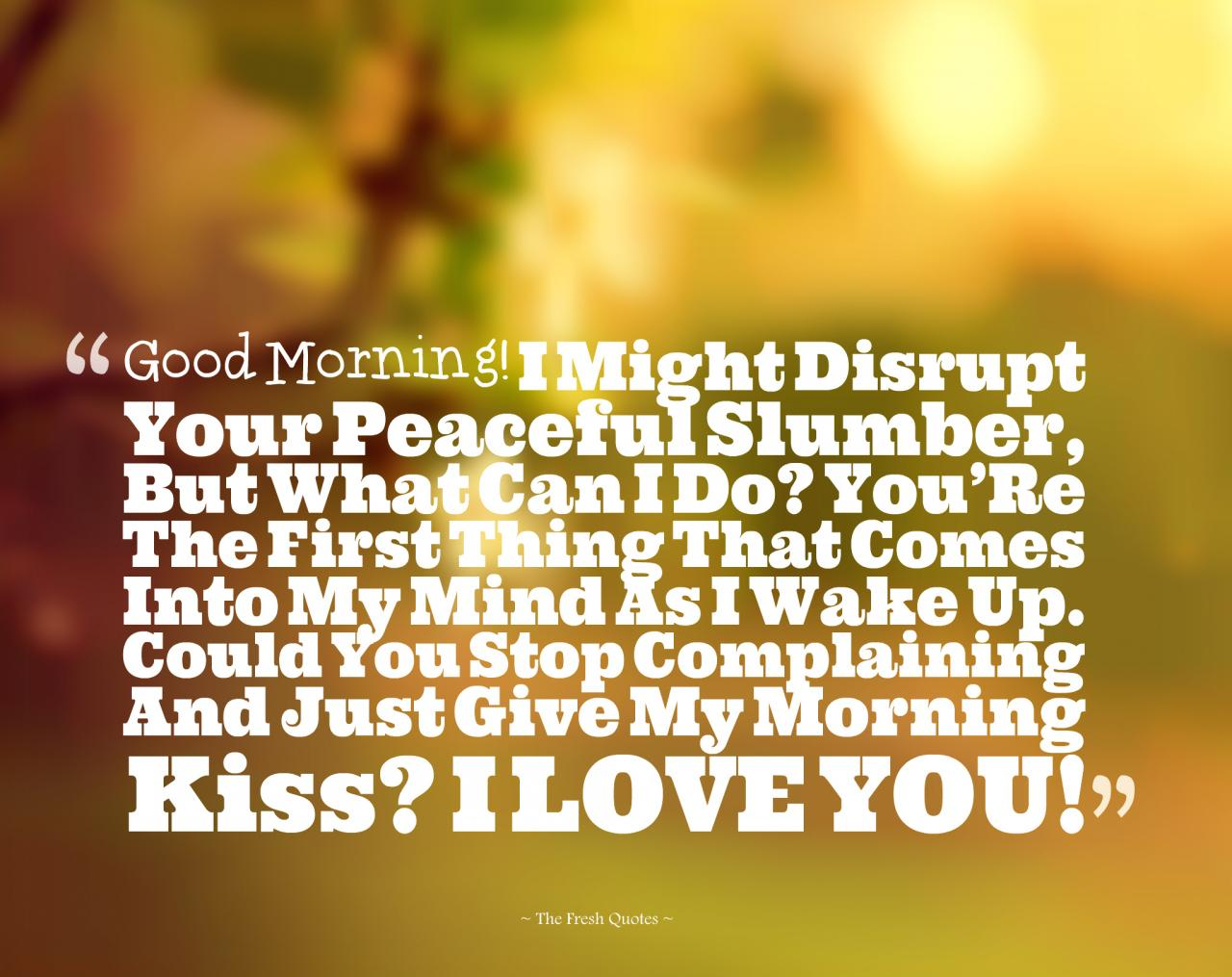 Romantic Good Morning Love Quotes Wishes