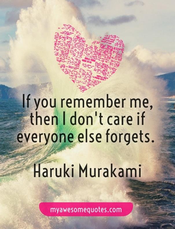 Haruki Murakami Quote About Love