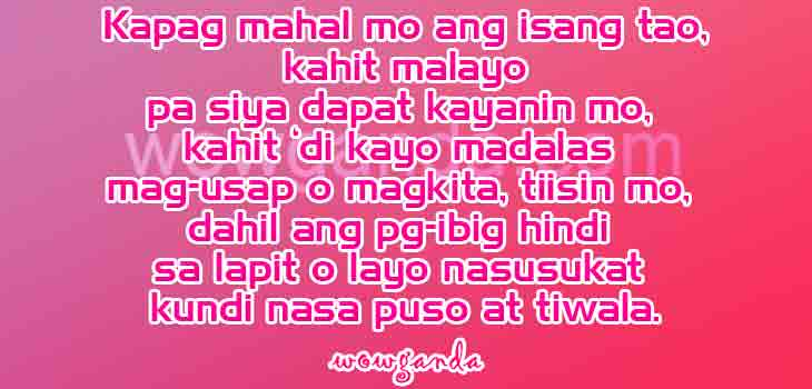 Best Inspirational Tagalog Love Quotes