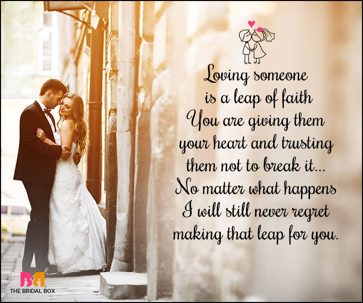 Love Marriage Quotes A Leap Of Faith