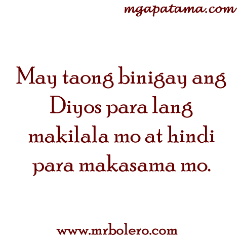 Banat At Patama Quotes Tagalog Love Quotes  C B Makilala Quotes