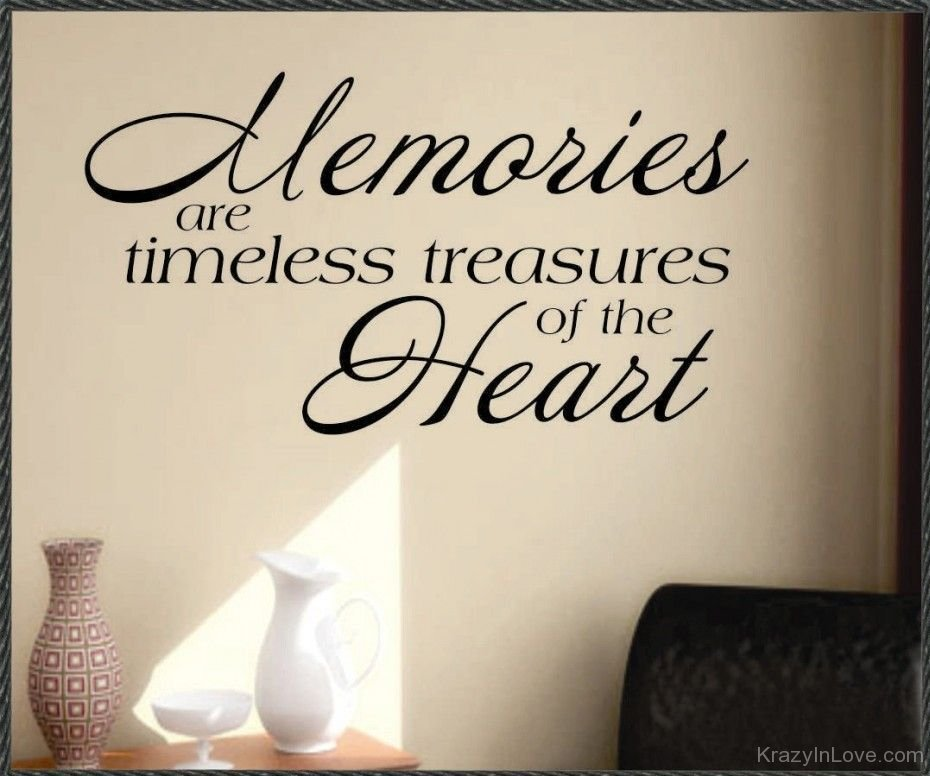 Memories Are Timeless Treasure Of The Heart