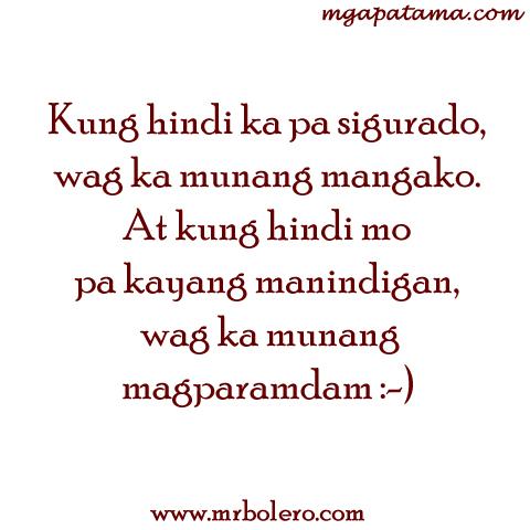 Pangako Tagalog Quotes