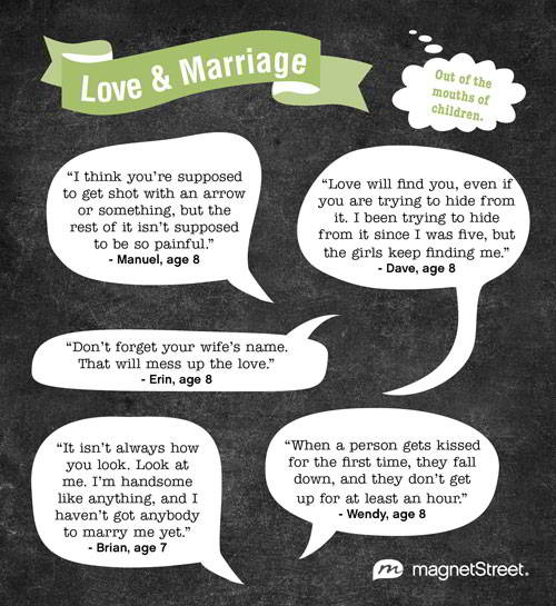 Love Marriage Out Of The Mouths Of Children