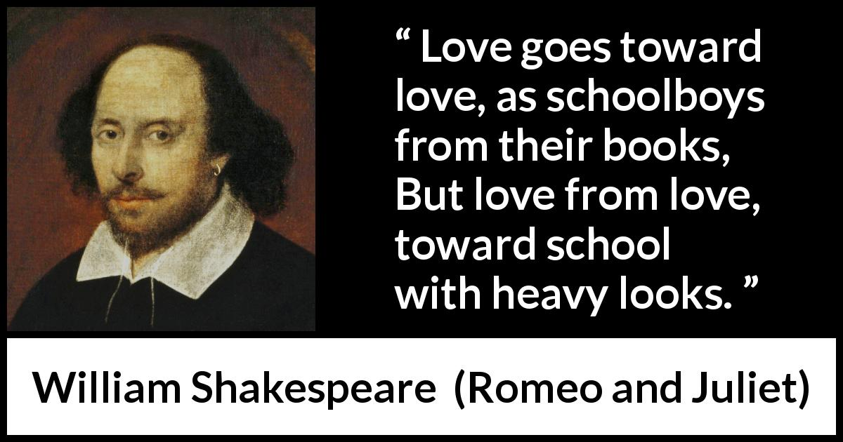 William Shakespeare Quote About Love From Romeo And Juliet  Love Goes Toward