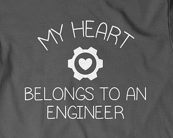 My Heart Belongs To Engineer T Shirt T Shirt Tees Mens Ladies Womens Gift Present Engineering Dad Father Husband Wife Boyfriend Wifey Hubby