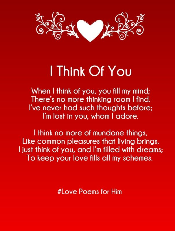 Cute And Sweet Rhyming Love Poems For Him With Images That Is Heart Touching Best Romantic Poetry For Your Boyfriend Or Husband To Say I Love You Or To Do