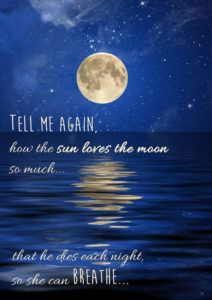 Tell Me Again How The Sun Loves The Moon So Much He Dies Each Night So She Can Breathe