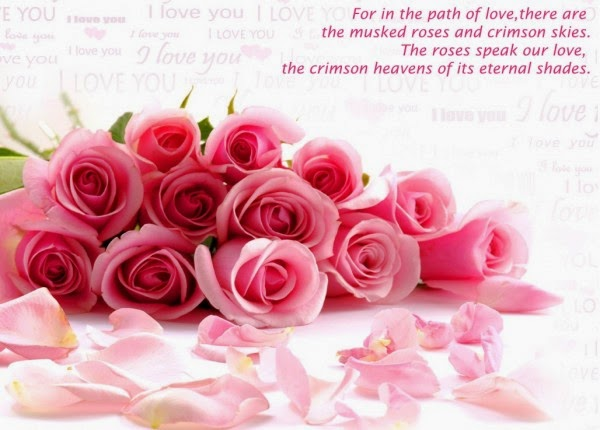 Beautiful Love Card With Quotes Wallpaper With Pink