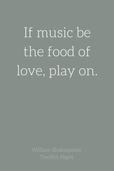 If Music Be The Food Of Love Play On William Shakespeare Twelfth Night