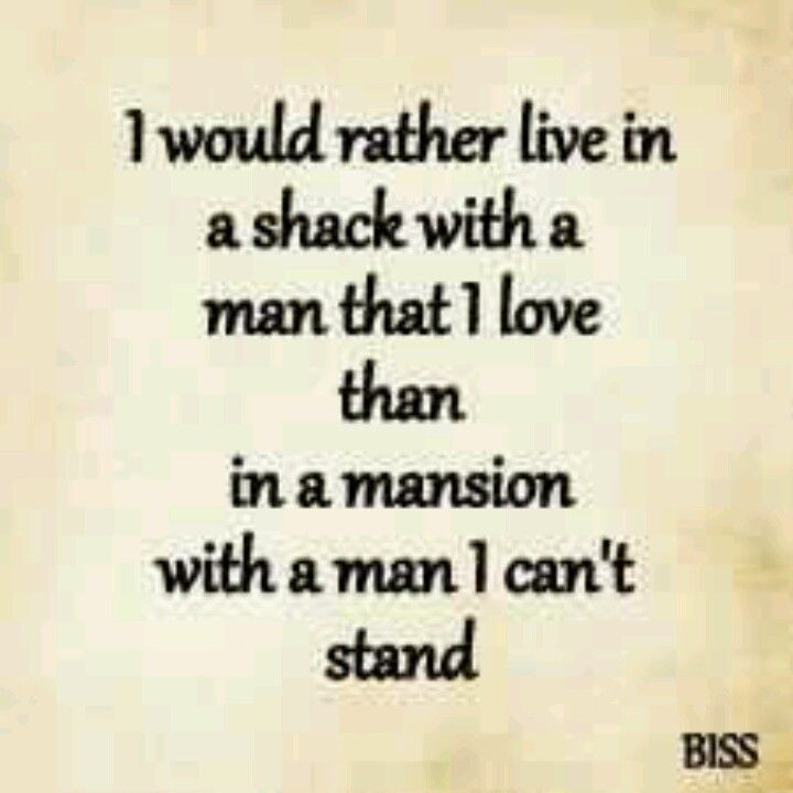 Or Even With A Man Who Im Not Crazy About There Is No