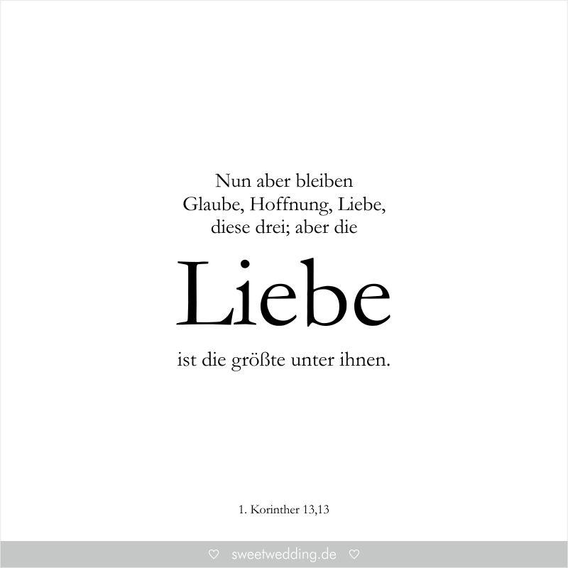 Trauspruche Zitate Hochzeit Liebe Gluck Nun Aber Bleiben Glaube