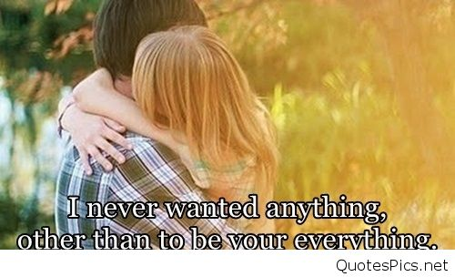 Couple Everything Forever Love Quote Favim Com