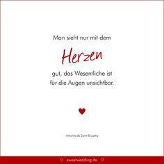 Trauspruche Zitate Hochzeit Liebe Gluck Man Sieht Nur Mit Dem