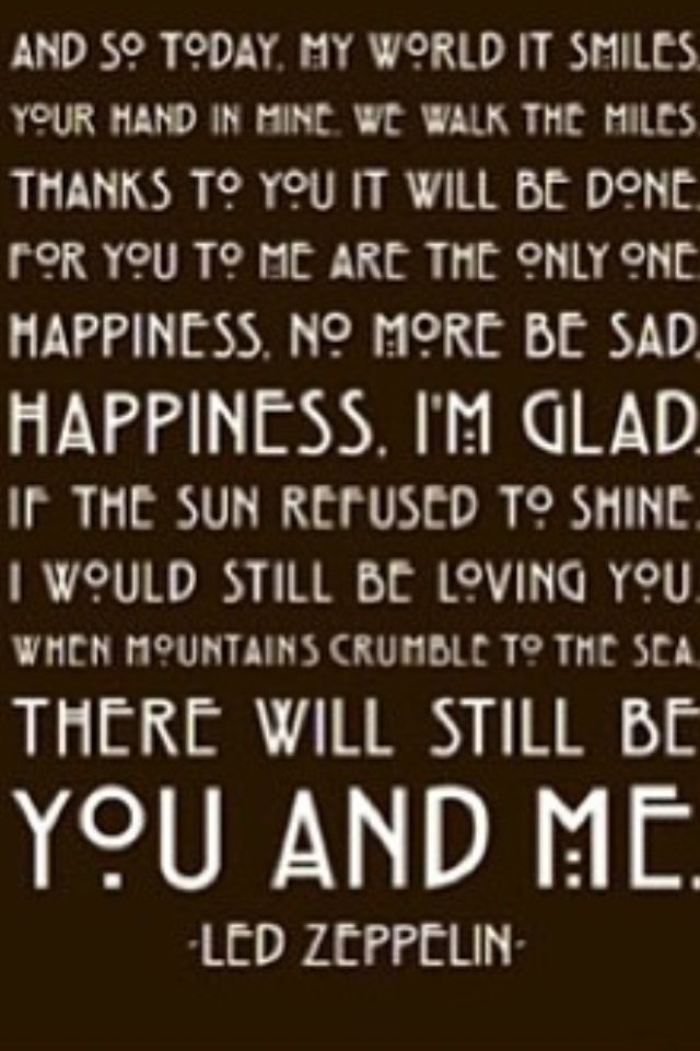 Thank You Lyrics Led Zeppelin