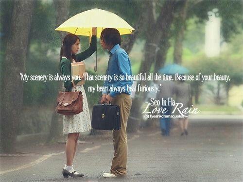 Love Rain Korean Drama Quotes Quotesgram Quotes About Love Rain Quotes About Love Rain