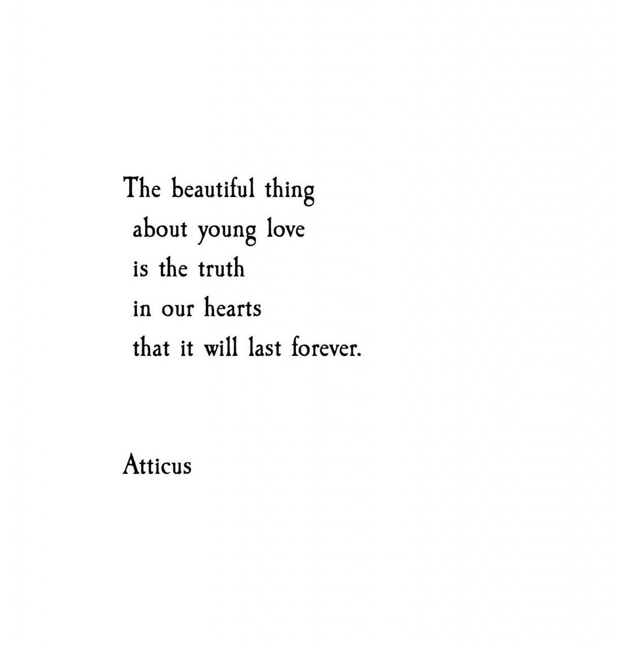 Young Hearts Atticuspoetry Atticuspoetry Deep Quotesquotes Loverandom