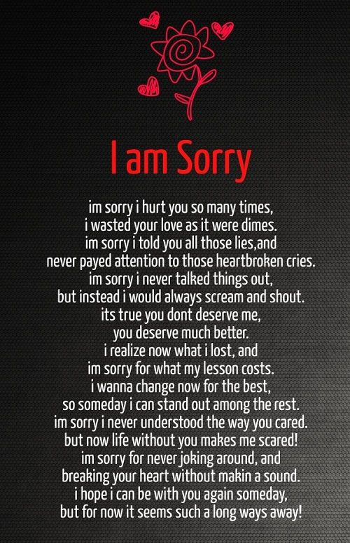 I Am Sorry Love Quotes For Her More