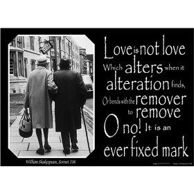Shakespeare Love Is Not Love Which Alters Sonnet  Poster By