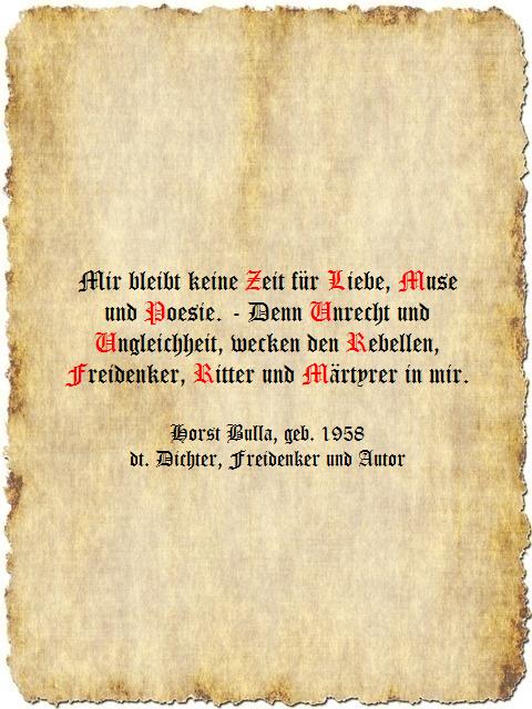 Mir Bleibt Keine Zeit Fur Liebe Muse Und Poesie Zitat Horst Bulla Dt