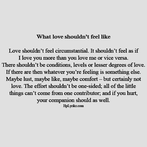 What Love Is Not