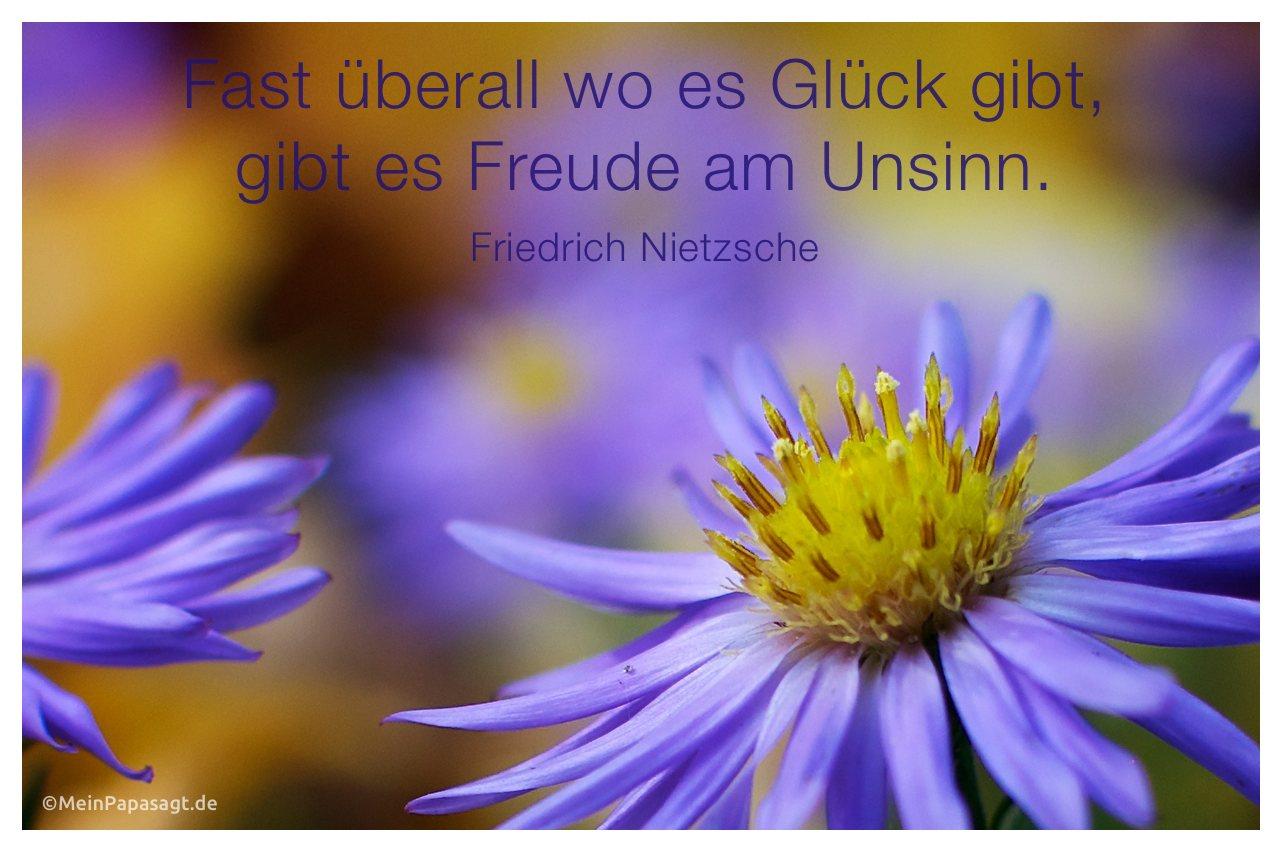 Nahaufnahme Eines Blutenkelchs Mit Dem Friedrich Nietzsche Zitat Fast Uberall Wo Es Gluck Gibt