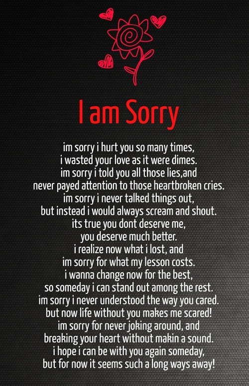 Poems to say sorry to your boyfriend. I\'m Sorry Poems. 2019 ...